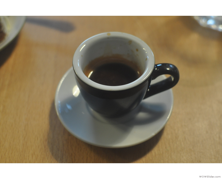 ... and an espresso on my return in 2015...