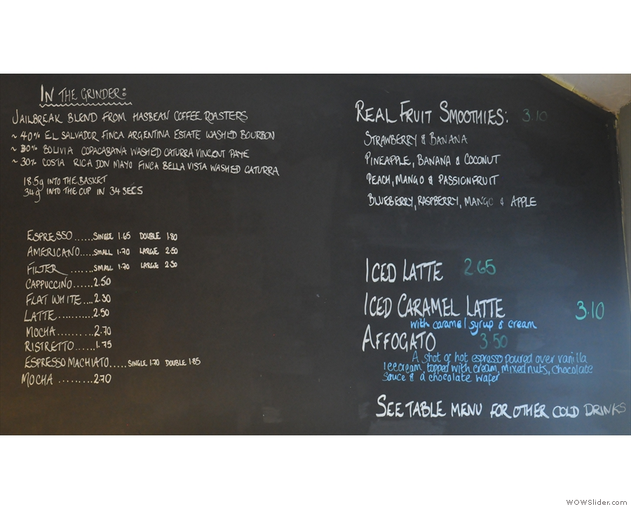 ... although by 2015, the menu had been considerably simpliified.