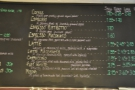The main coffee menu is above the counter and in 2013 used to offer various sizes...