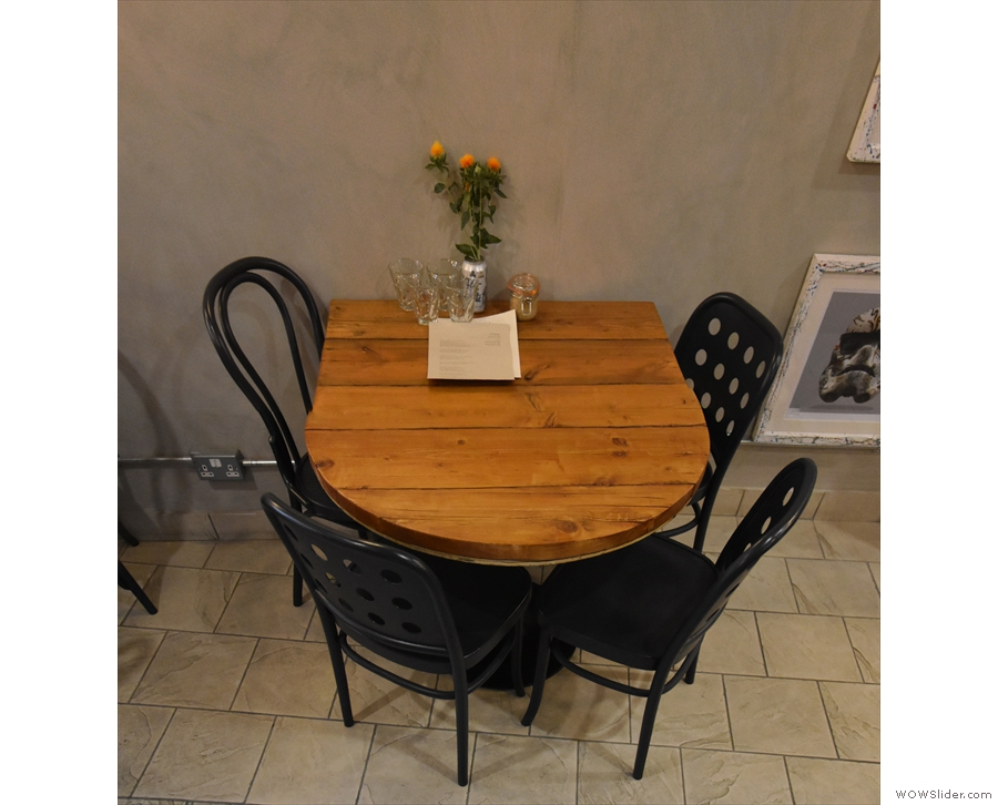... starting with two of these four-person tables...