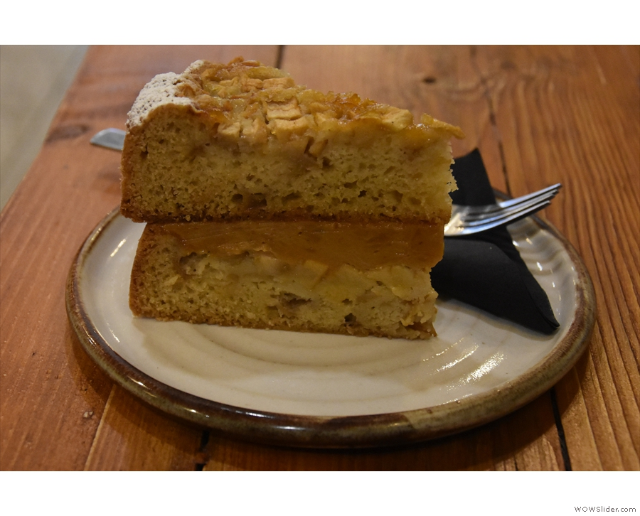 ... which I paired with a massive slice of apple toffee cake.