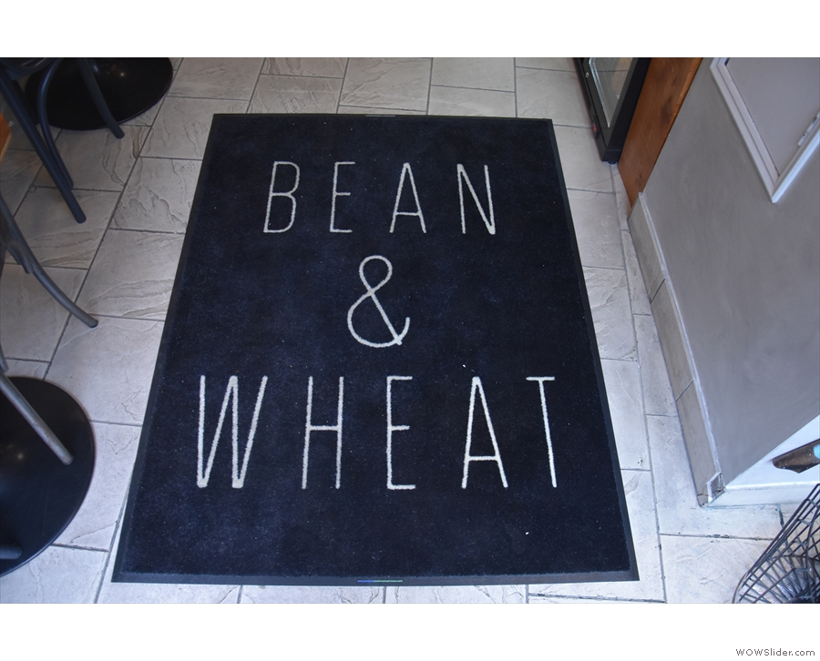 The door mat provides a nice welcome. And let's you know where you are.