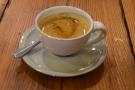 I started with an espresso, made using the Bobolink Brazilian single-origin...
