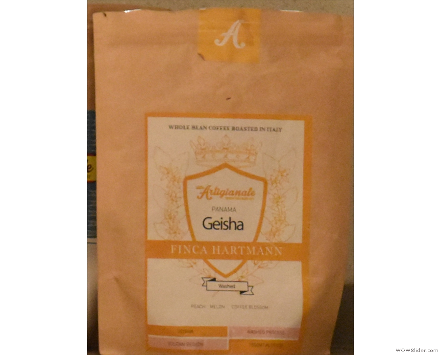 ... and the coffee itself, a lovely, delicate Panama Geisha from Ditta Artigianale.