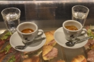 Exhibit A, two espressos, made with the Guatemalan single-origin, our favourite!