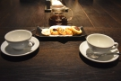 And here's our second coffee. The first was so good, we hadn't even touched the biscuits!