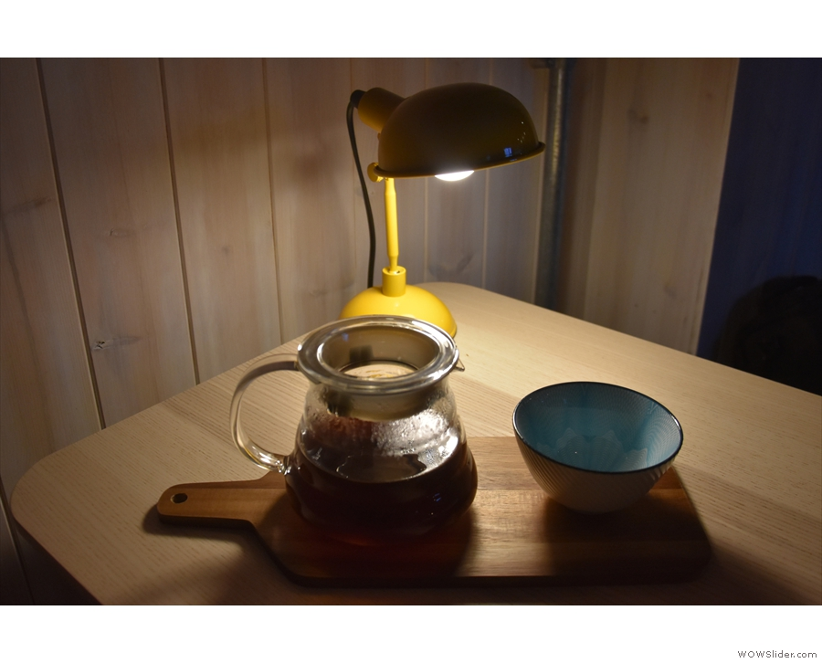 However, I was drawn to the V60 option, seen here looking moody on my table.