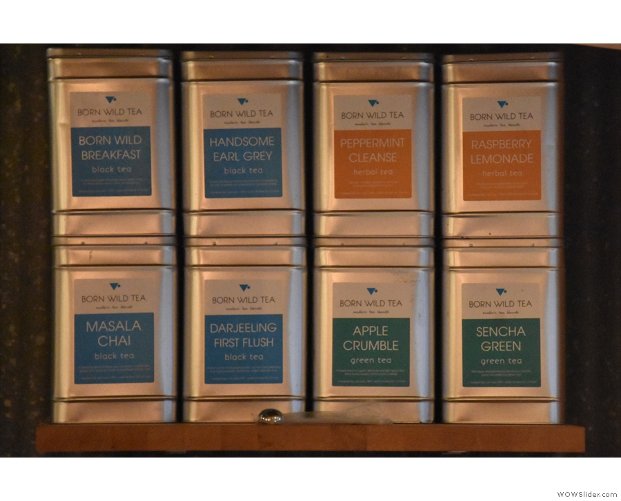 There's also an interesting range of teas.