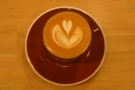 ... with the latte art in more detail...