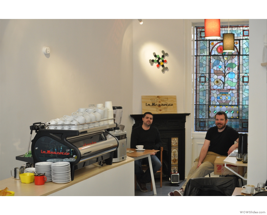 Back in the UK and here's Bristol latest gem, Full Court Press Coffee