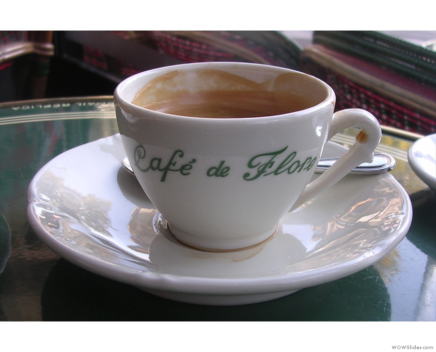 And again to Paris and a touch of class from Cafe de Flore