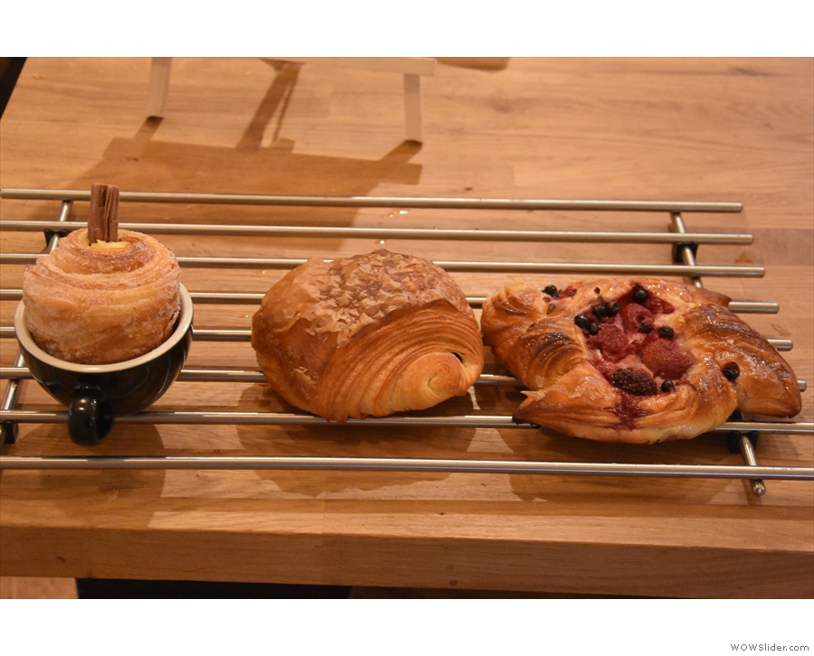 ... and, in case you didn't find what you wanted in the cakes, a selection of pastries.