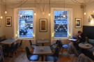 A panoramic view of the front of The Coffee Dispensary.