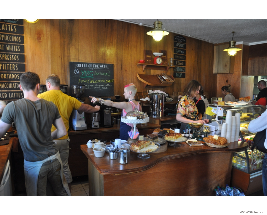 The organised chaos that is Workhouse Coffee's King Street Branch in Reading