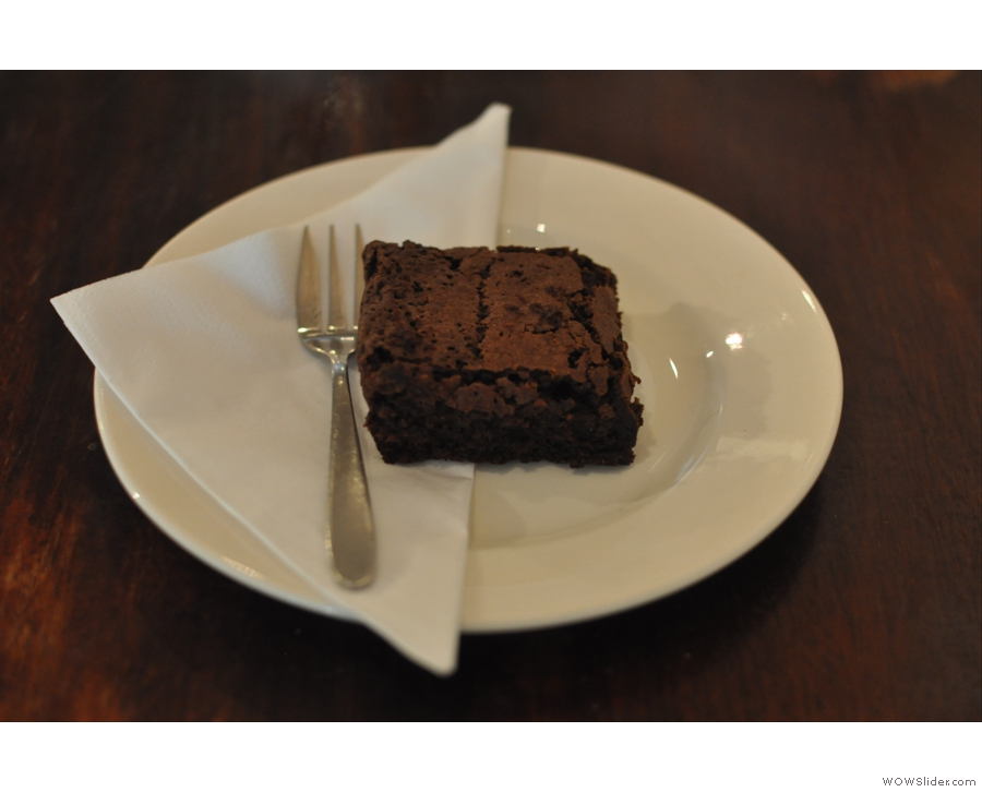 An outstanding brownie came with it.