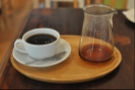 And after pouring. Someone had to get all arty and turn the cup/carafe around.