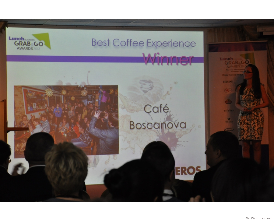And the winner is... Cafe Boscanova!