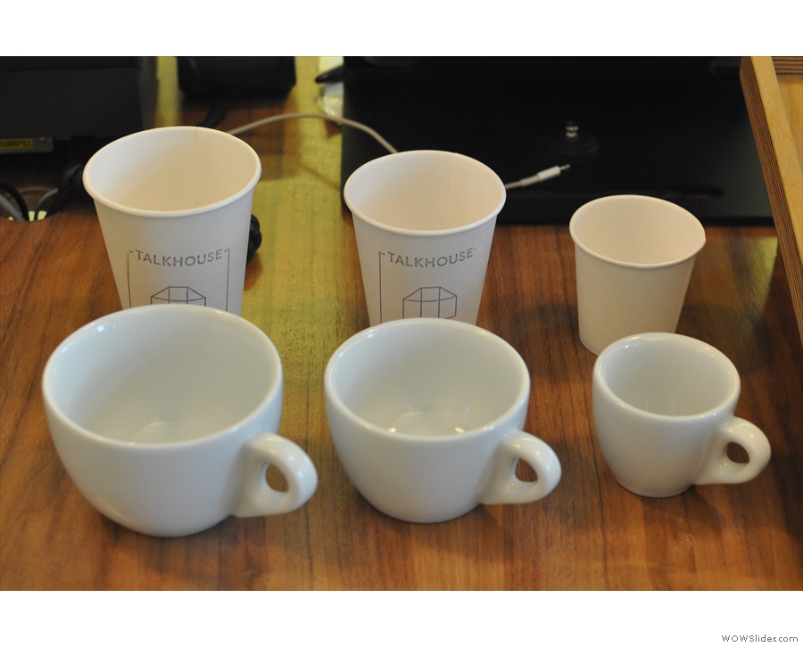 In fact, Talkhouse is full of nice touches, including this neat way of showing the cup sizes.