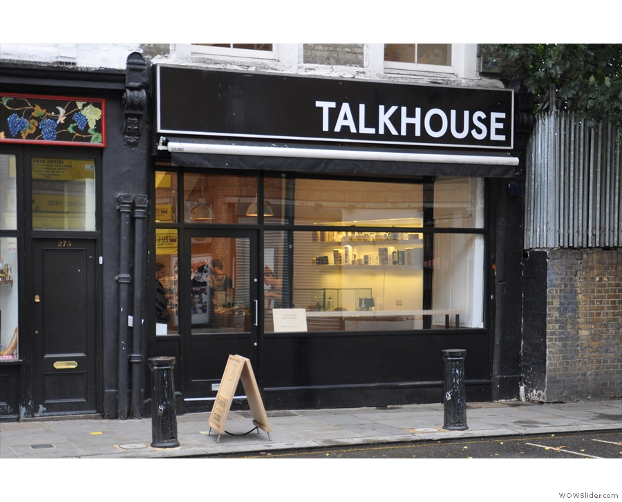 Talkhouse Coffee at the top of Portobello Road