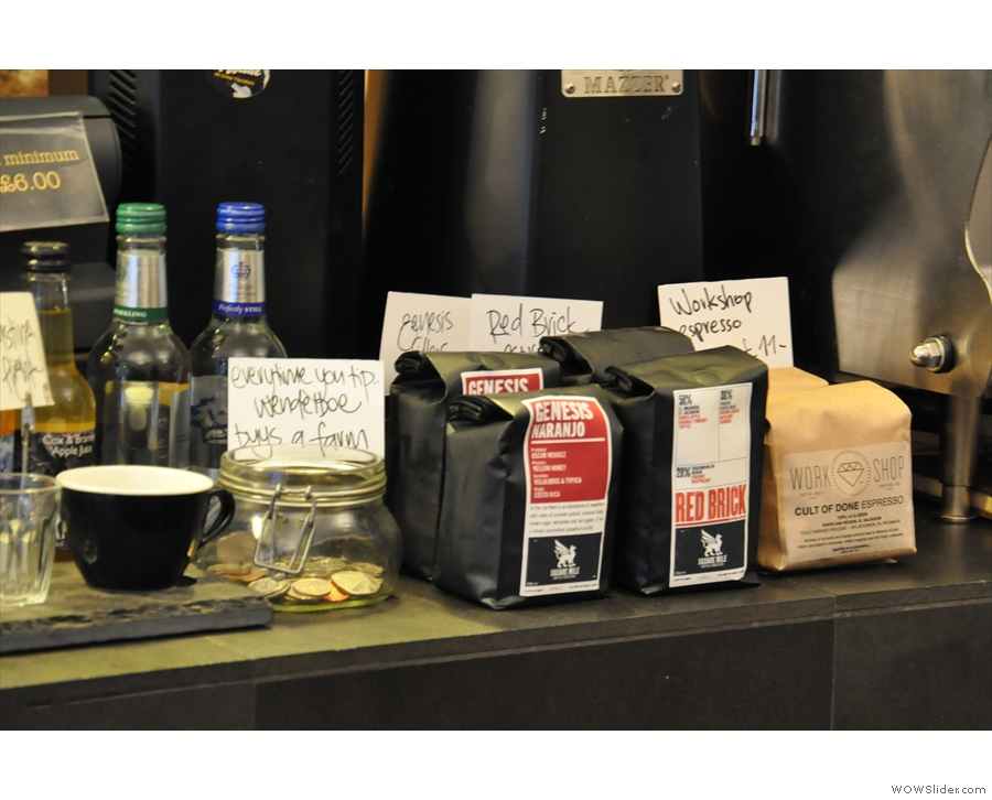 As well as the kit, you can also buy the coffee to take home.