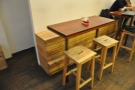... and these high tables opposite the counter.