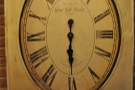 ... and this lovely old clock on the wall.