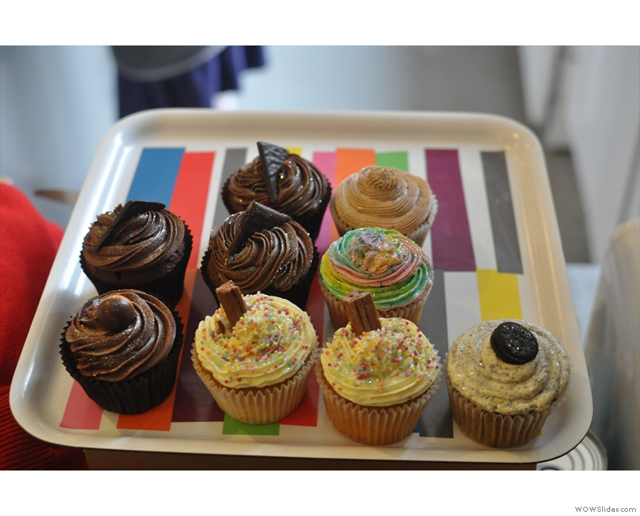 And if that doesn't take your fancy, there are cupcakes too!