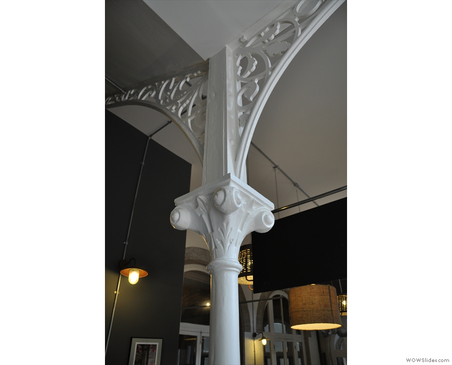 I loved the architecture, including this iron pillar and arches supporting the roof.