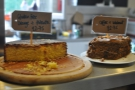 ... and cake (orange+polenta)...