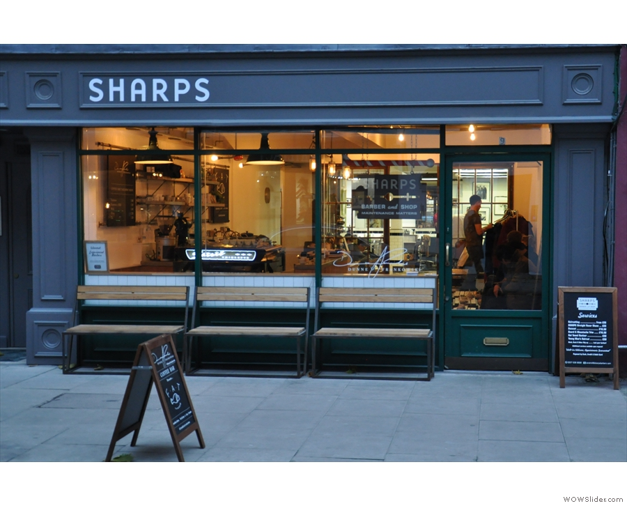 Sharps Barbers or Dunne Frankowski Coffee Bar?