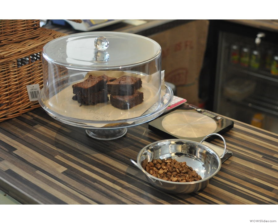 A brownie to go with your coffee? Yasmeen also roasts her own beans at home, but they're not for sale yet.