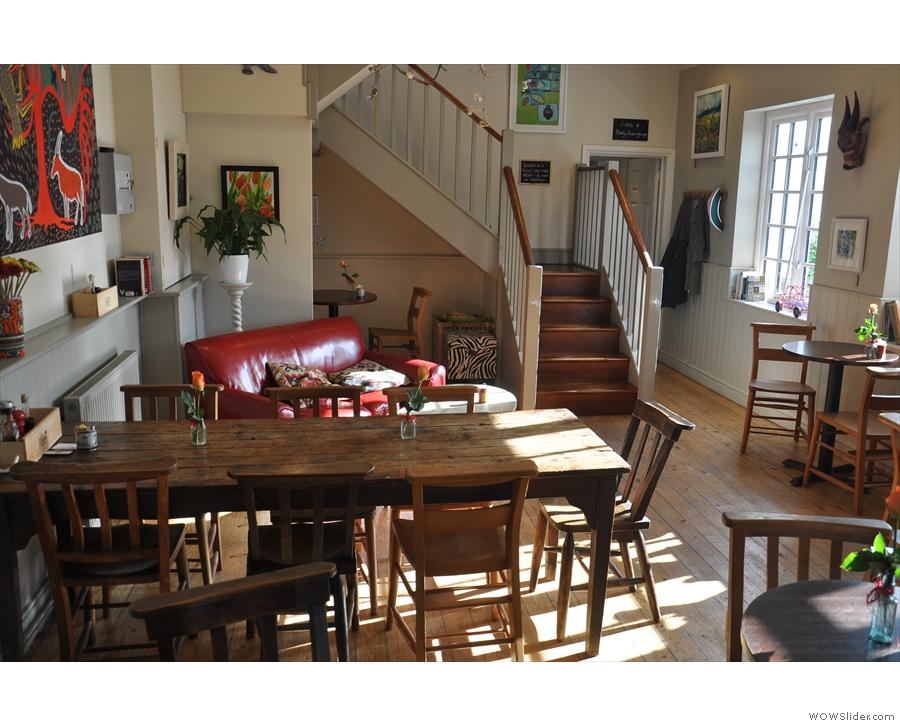 September: the welcoming interior of Godaliming's Cafe Mila