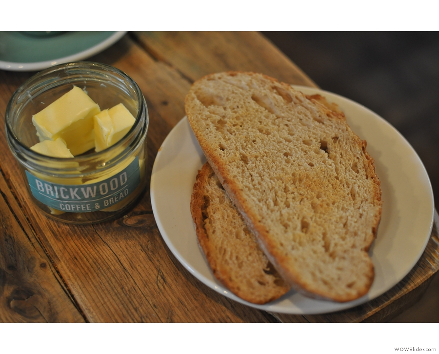This being Brickwood Coffee & BREAD, I had to have some toast!