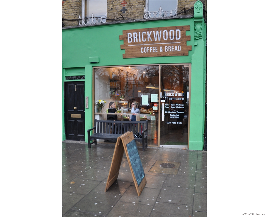 Brickwood Coffee and Bread on Clapham Common