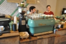 Happy staff at the La Marzocco.