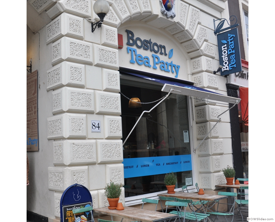 The Boston Tea Party in Exeter, nailing that coffee lounge look.