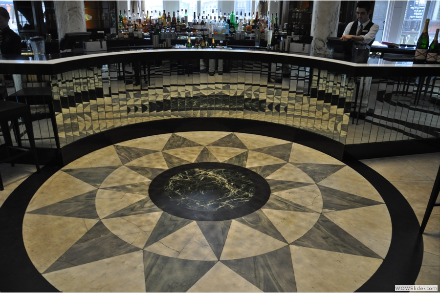 And let's take a closer look at the floor of the bar while we're at it.