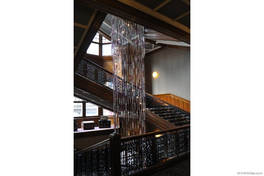 In case you are wondering how to find Champagne Central, head for the staircase. You can't really miss it!