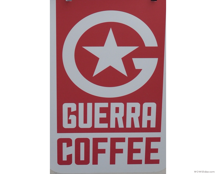 Guerra Coffee, Guildford's first (and so far only) pop-up cafe