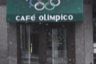Cafe Olimpico: singing along to Sister Sledge :-)