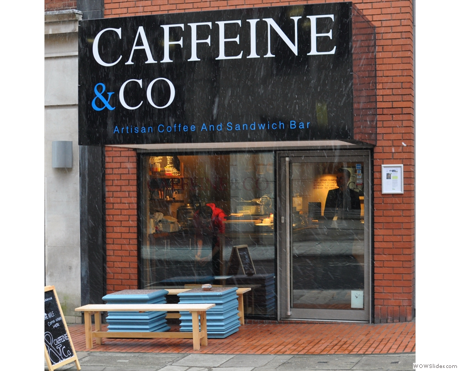 Caffeine & Co, or as I prefer to call it, the espresso cube