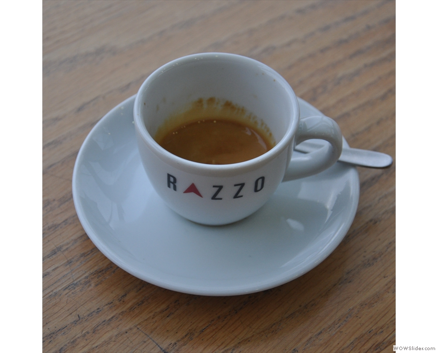 Razzo Coffee, flying the flag for Edinburgh on St Andrew Square