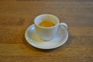 Down to business: my espresso, served in a classic white cup