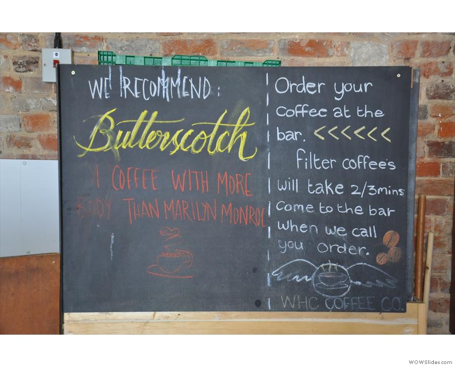 The helpful blackboard explains the rules...
