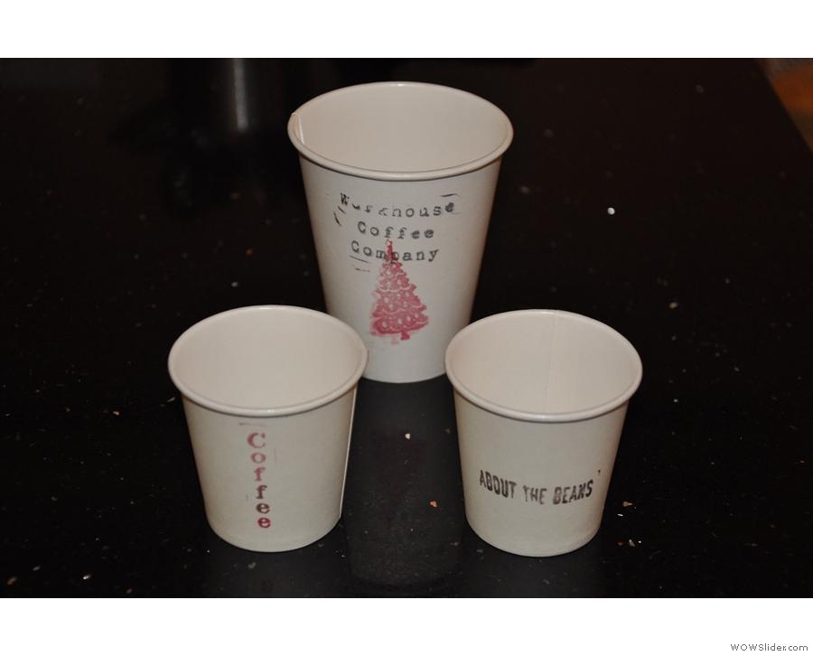 Nice festive takeaway cups.
