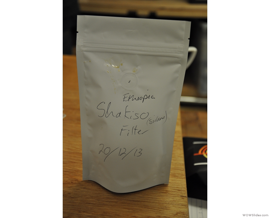And this one, a sample of my other favourite from the cupping...