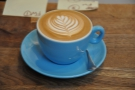 And here it is in-situ. Despite being busy, there's still time for latte art.