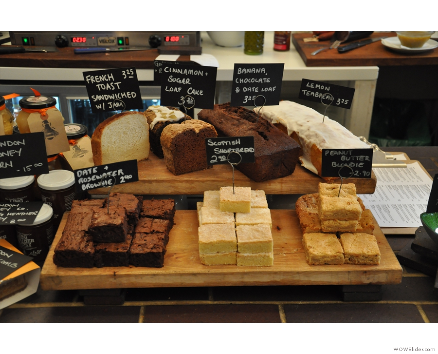 So, to business. The cake selection looks good.
