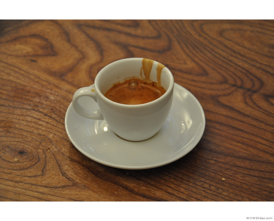 And finally an espresso from my second visit.