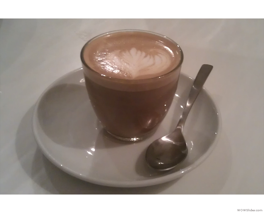 And a decaf stumpy(TM) (somewhere between a piccolo and flat white in size).